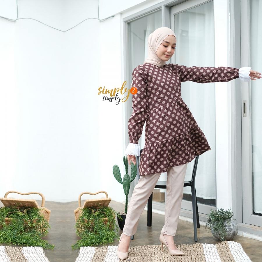 Batik Renda Coklat Size M